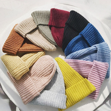 Modakawa Hat Candy Color Beanie Hat for Spring and Autumn