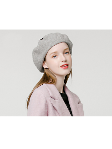 Flat Top Strappy Beret Hat