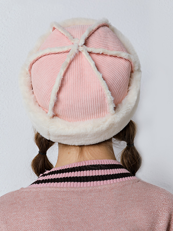 Modakawa Hat Pink Vintage Winter Furry Melon Hat