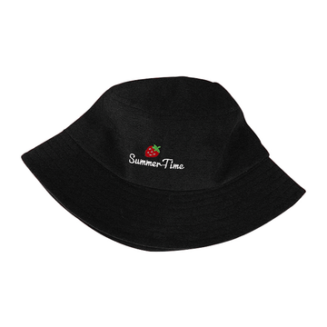 Modakawa Hat Strawberry Embroidery Bucket Hat