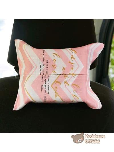 Modakawa Home Enjoy-Life / With Strap Pink Tissue Box Cover