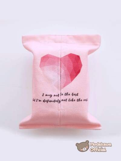 Modakawa Home Heart / No Strap Pink Tissue Box Cover