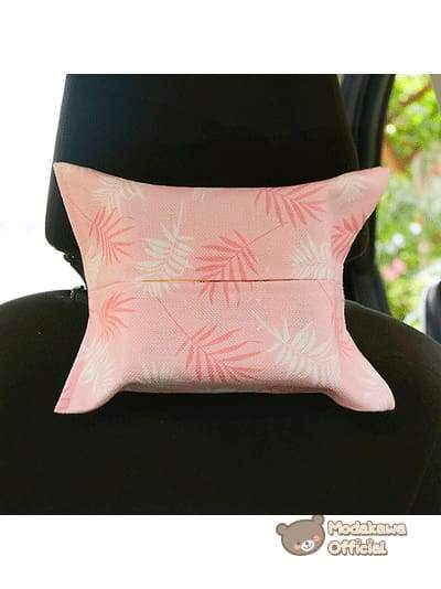 Modakawa Home Leaves / With Strap Pink Tissue Box Cover
