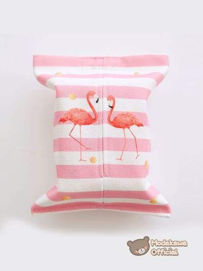 Modakawa Home Swans / No Strap Pink Tissue Box Cover