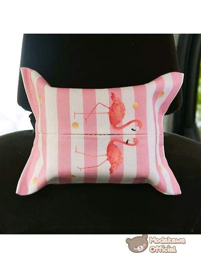 Modakawa Home Swans / With Strap Pink Tissue Box Cover