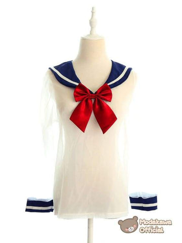 Modakawa Intimates Long Sleeve Japanese Transparent Sailor Uniform