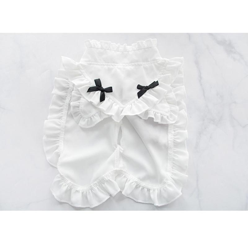 Modakawa Intimates White / One Size Maid Ruffle Bow Collar Cat Ears Lingerie Set