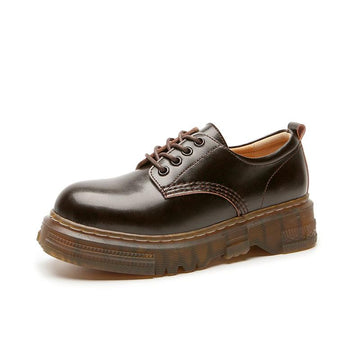 Modakawa Mary Janes Brown / 35 Japanese Classic Lace Up Platform Mary Janes Shoes