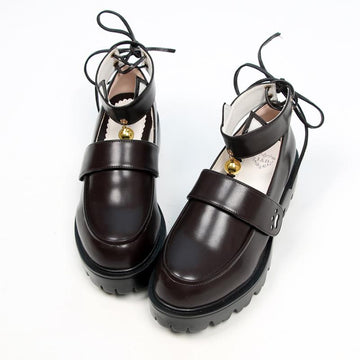 Modakawa Mary Janes Kitty Claw Bell JK Platform Mary Janes