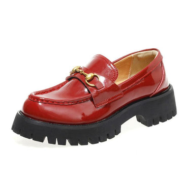 Modakawa Mary Janes Red / 35 Vintage Harajuku Metal Platform Mary Jane Shoes