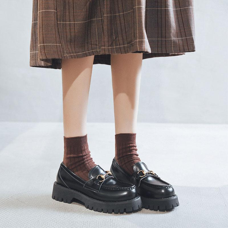 Modakawa Mary Janes Vintage Harajuku Metal Platform Mary Jane Shoes