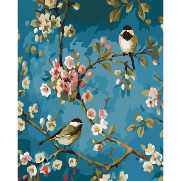 Modakawa Paint Bird / 40 x 50 cm No Frame Bird DIY Paint by Numbers