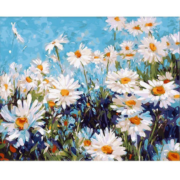 Modakawa Paint Field of Daisies / One Size Field of Daisies DIY Numbers Painting
