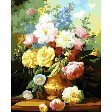 Modakawa Paint Flower / 40 x 50 cm No Frame Flower DIY Paint by Numbers