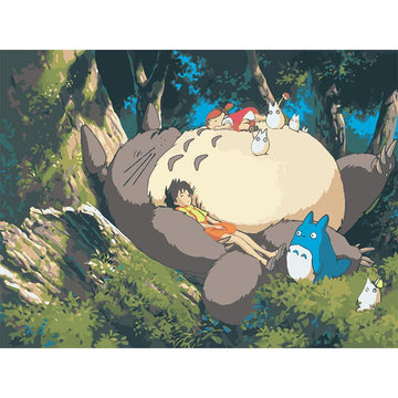 Modakawa Paint My Neighbor Totoro / 40 x 50 cm No Frame My Neighbor Totoro DIY Paint by Numbers