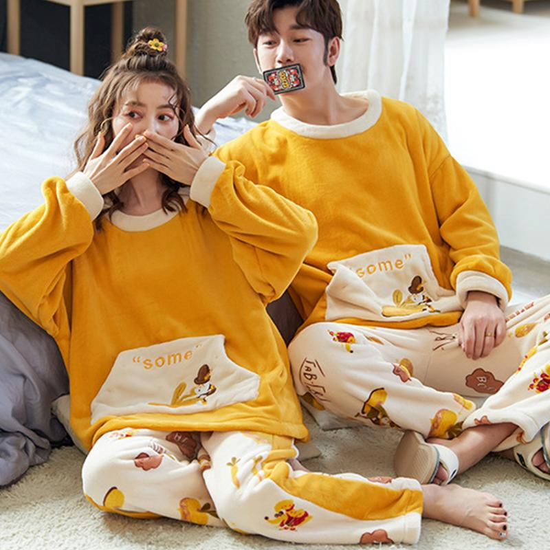 Modakawa Pajamas Boyfriend Girlfriend Cartoon Two Piece Pajama Set