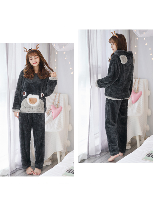 Modakawa Pajamas Cartoon Bear Home Pajamas Set