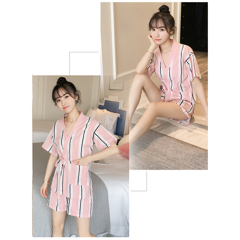 Modakawa Pajamas Kawaii Strappy Two Piece Summer Pajama Set