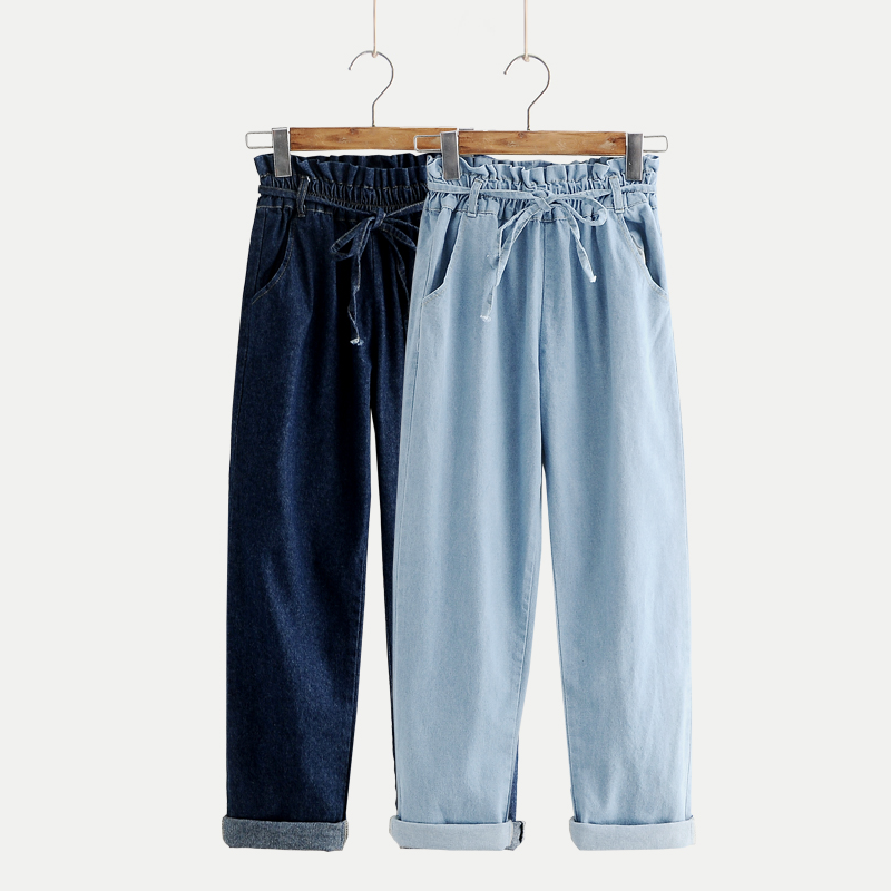 Modakawa Pants Denim Pull-On Wide Leg Jeans