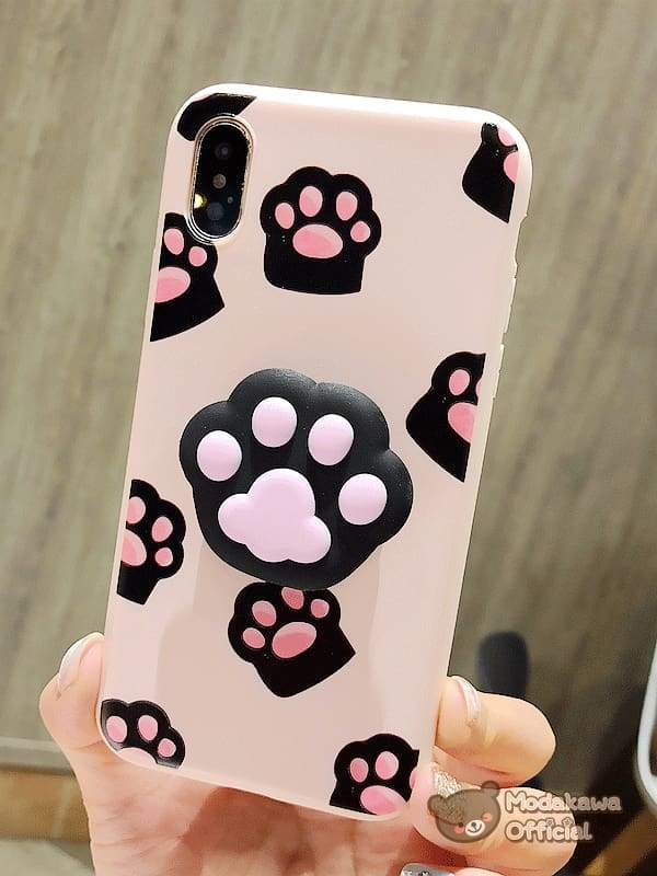 Modakawa Phone Case Black / iPhone6/6s Cute Cat Claw iPhone Case