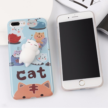Modakawa Phone Case Blue / iPhone6/6S Squishy Lazy Cat Phone Case