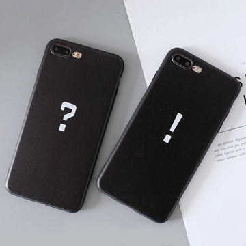 Modakawa Phone Case Couple Punctuation Print Silicone Phone Case
