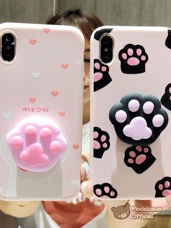 Modakawa Phone Case Cute Cat Claw iPhone Case