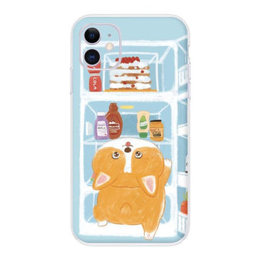 Modakawa Phone Case Dog / iPhone 6/6s Cartoon Food Cat Dog Print Silicone Phone Case