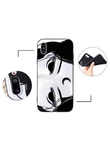 Modakawa Phone Case Eyes / iPhone5/5s/SE Phone Case Cartoon Girl Print Silicone Soft Rubber