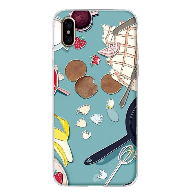 Modakawa Phone Case Green / iPhone 6/6s Cartoon Food Fruit Print Silicone Phone Case