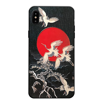 Modakawa Phone Case Harajuku Crane 3D Painted Phone Case