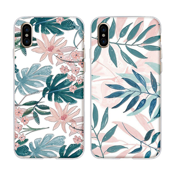 Modakawa Phone Case Harajuku Flowers Leaves 3D Painted Phone Case