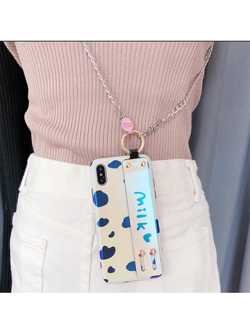Modakawa Phone Case iPhone6/6s Milk Wristband Phone Case