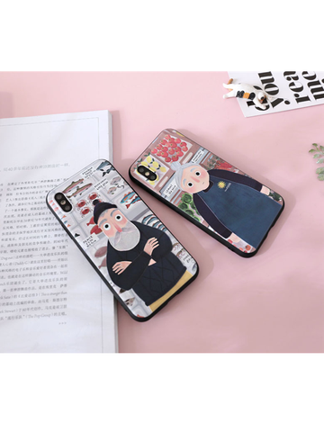 Modakawa Phone Case Man / iPhone5/5s/SE Matching Couple Phone Case Cartoon Character 3D Print Silicone