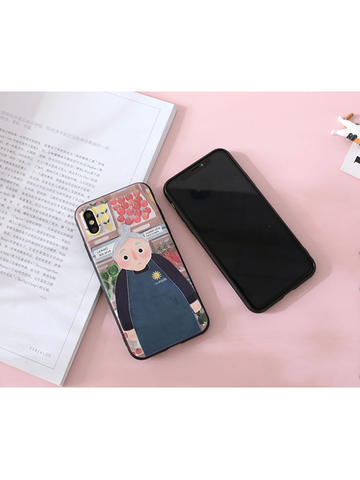 Modakawa Phone Case Man / iPhone5/5s/SE Phone Case Cartoon Character 3D Print Silicone Soft Rubber