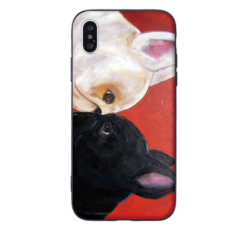Modakawa Phone Case Red / iPhone 5/5s/SE1 Cartoon Dog Print Silicone Phone Case