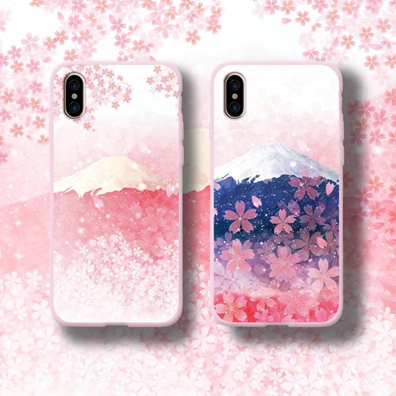 Modakawa Phone Case Sakura Mount Fuji Phone Case