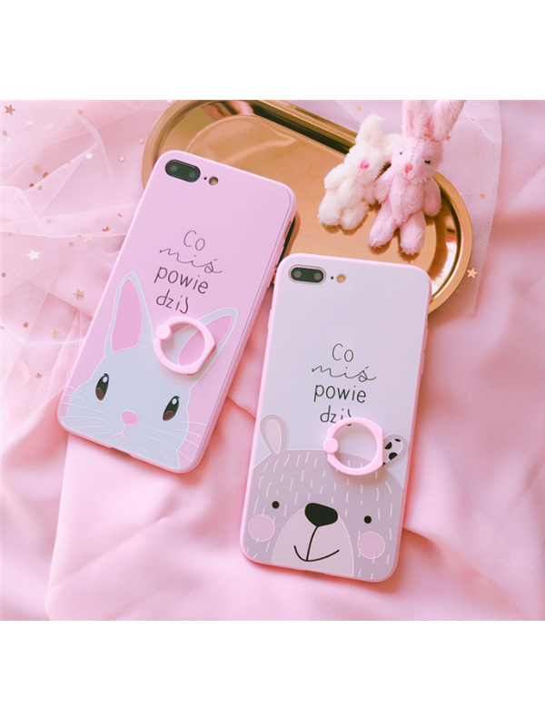 Modakawa Phone Case White / iPhone6/6s Rabbit Hanging Ring iPhone Case