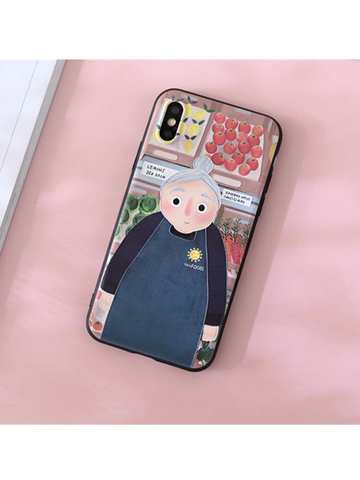 Modakawa Phone Case Woman / iPhone5/5s/SE Matching Couple Phone Case Cartoon Character 3D Print Silicone