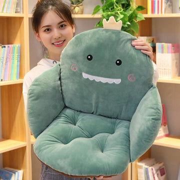 Modakawa Plushies Cartoon Plush Seat Back Cushion