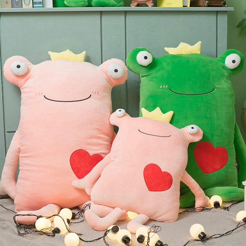 Modakawa Plushies Frog Love Heart Pillow Plush Toy