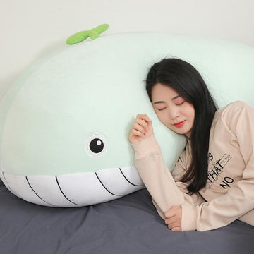 Modakawa Plushies Giant Whale Pillow Plush Toy