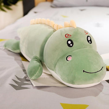 Modakawa Plushies Green A / 50cm/19.7in Smiling Kissing Dinosaur Pillow Plush Toy