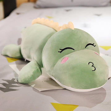 Modakawa Plushies Green B / 50cm/19.7in Smiling Kissing Dinosaur Pillow Plush Toy
