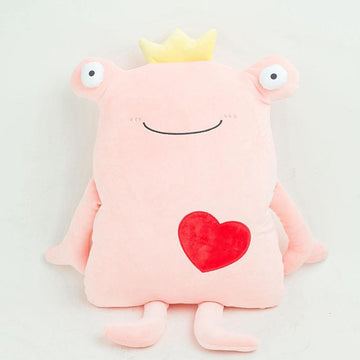 Modakawa Plushies Pink / 65cm/25.7in Frog Love Heart Pillow Plush Toy