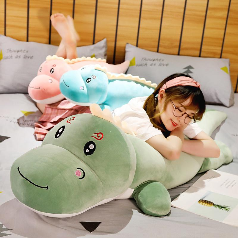 Modakawa Plushies Smiling Kissing Dinosaur Pillow Plush Toy