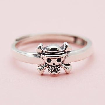Modakawa Rings Silver / One Size Adjustable Skull 925 Sterling Silver Ring