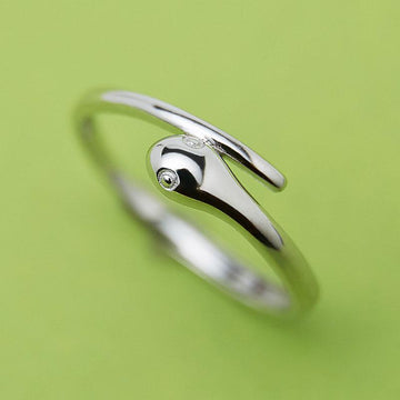 Modakawa Rings Silver / One Size Adjustable Snake 925 Sterling Silver Ring