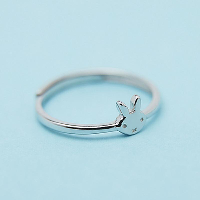 Modakawa Rings Silver / One Size Rabbit 925 Sterling Silver Ring