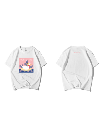 Modakawa Shirt White / M Modakawa Anniversary Limited Edition T-Shirt: Outing Time